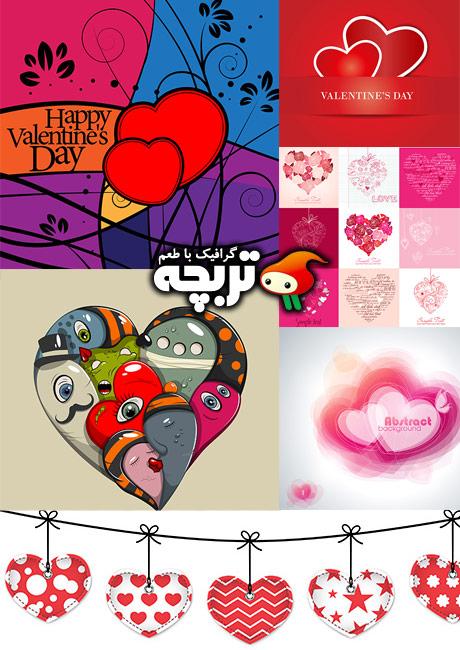 دانلود وکتورهای ولنتاین شاتراستوک Valentine Day ShutterStock Vector