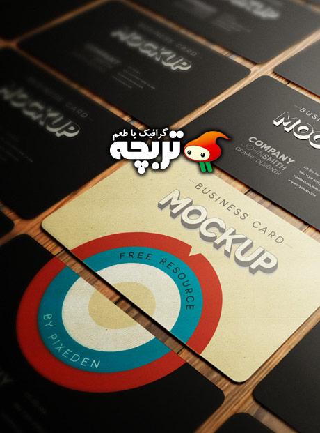 دانلود طرح لایه باز پیش نمایش کارت ویزیت GraphicRiver BusinessCard MockUp