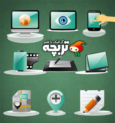 دانلود وکتور آیکون های تکنولوژی Technology Icons Vector