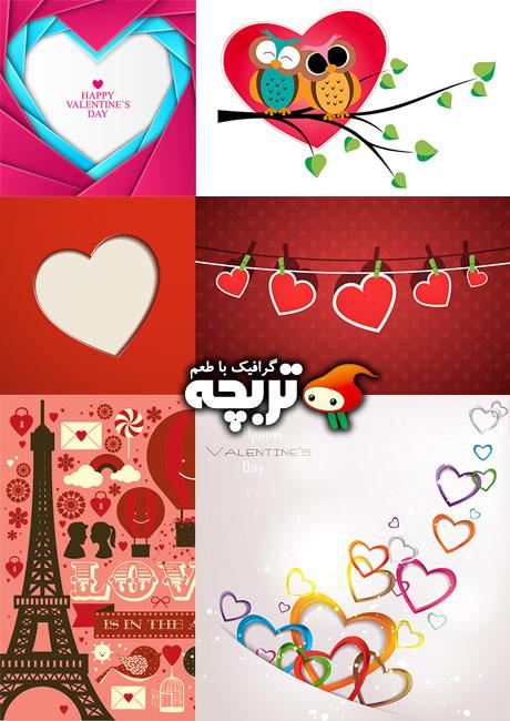 دانلود وکتورهای ولنتاین شاتراستوک Valentine Day ShutterStock Vector 02