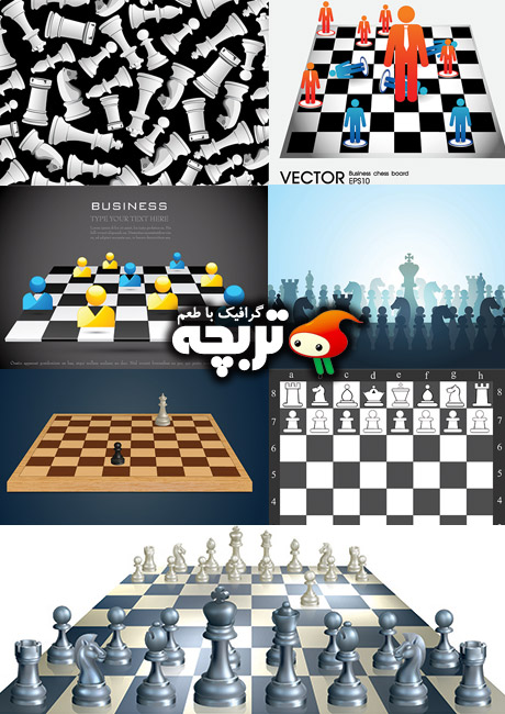 دانلود وکتور شطرنج شاتراستوک Chess ShutterStock Vector