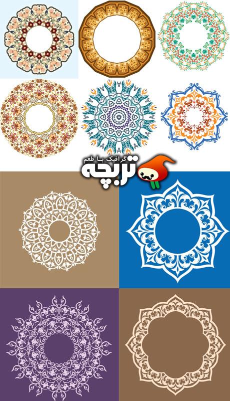 دانلود وکتور طرح های زینتی Abstract Ornaments Design Vectors