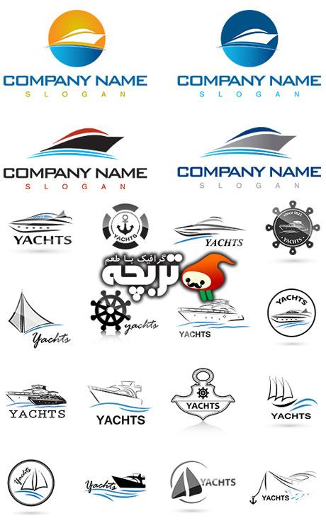 دانلود لوگو آماده قایق و کشتی Boat And Ship Logo Elements