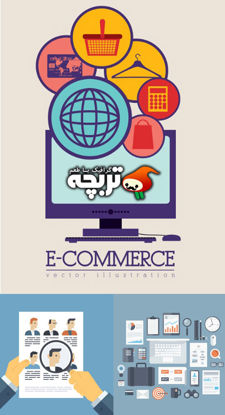 دانلود وکتور تجارت الکترونیک Business And E Commerce