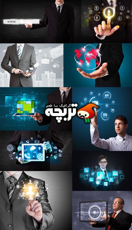 دانلود تصاویر با کیفیت تجارت الکترونیک Business Network ShutterStock 2