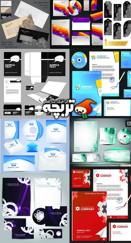 دانلود وکتورهای ست اداری Corporate Identity Vectors