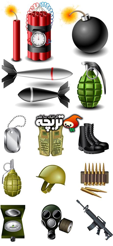 دانلود وکتور ادوات جنگی Instrument War Vectors