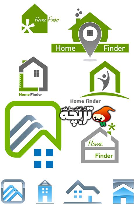 دانلود لوگوی املاک و مستقلات Real Estates Logo Element