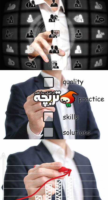 دانلود تصاویر با کیفیت کسب و کار مجازی Virtual Business Modern Technology