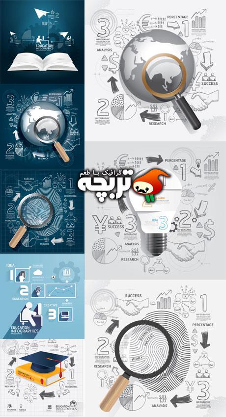 دانلود وکتور کسب و کار جهانی World Business Doodles