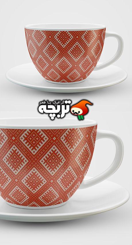 دانلود طرح لایه باز پیش نمایش فنجان GraphicRiver Cups MockUP