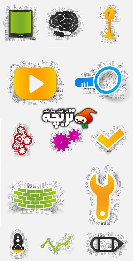 دانلود وکتور المنت های اینفوگرافیک Infographic Design Element ShutterStock 02