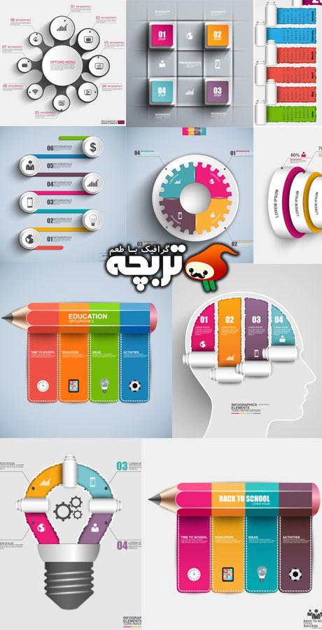 دانلود وکتورهای المنت اینفوگرافیک Infographic Design Element ShutterSTock