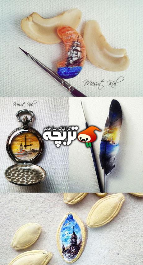 میکرو نقاشی های هنرمندانه از Mesut Kul