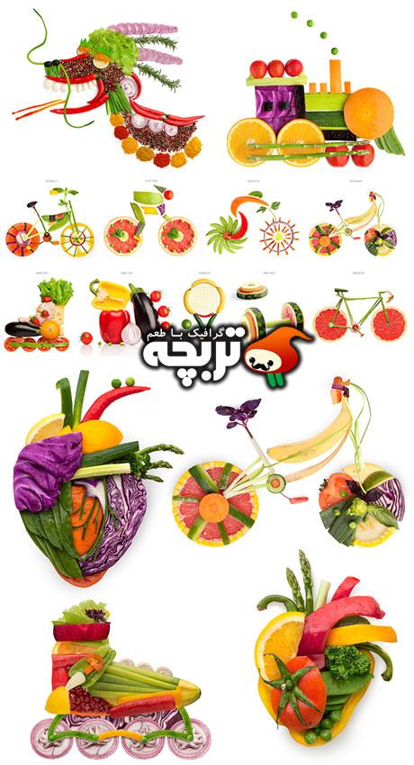 دانلود تصاویر با کیفیت غذاهای خلاق Creative Food College