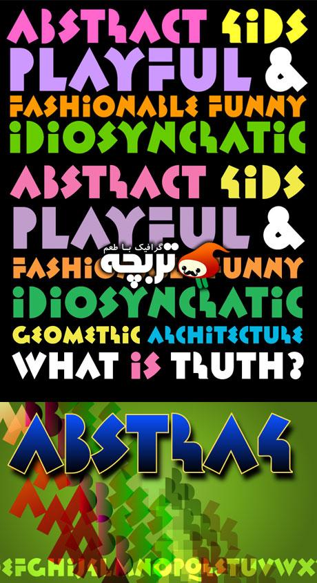 دانلود فونت انگلیسی Abstrak BF