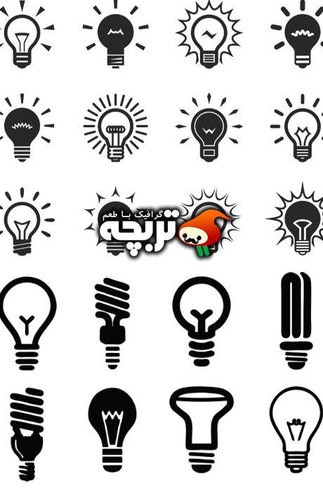 دانلود لوگو المنت های لامپ  Lamps Logo Elements Vector
