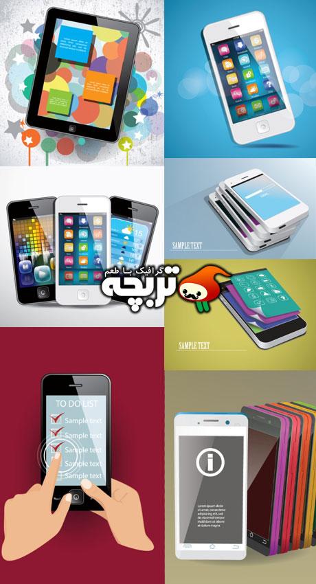 دانلود وکتور تبلت و موبایل های هوشمند SmartPhones And Tablet Vector
