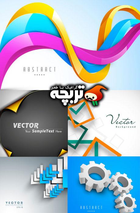 دانلود وکتور پس زمینه های انتزاعی Stock Vector 3D Abstract backgrounds