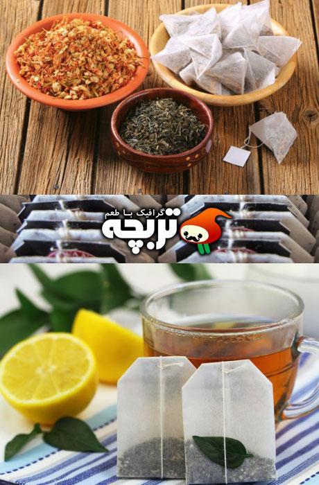 دانلود تصاویر با کیفیت چای کیسه ای Tea Bag Stock Images