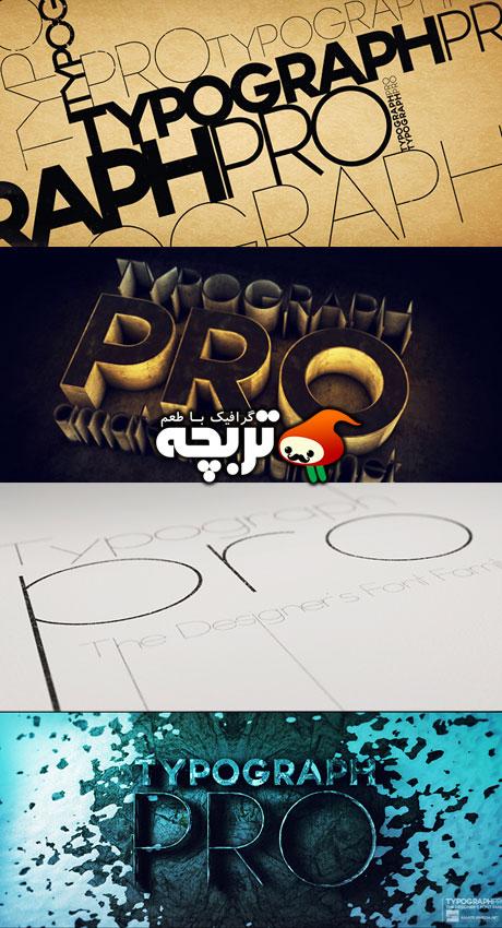 دانلود فونت انگلیسی Typograph Pro Font