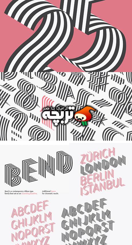 دانلود فونت انگلیسی Bend Font