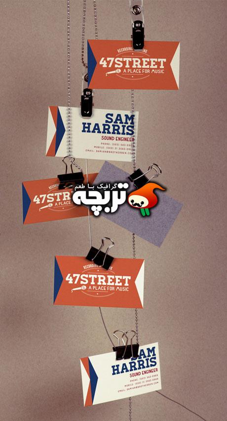 دانلود طرح لایه باز پیش نمایش کارت ویزیت آویزان BusinessCard Mockup