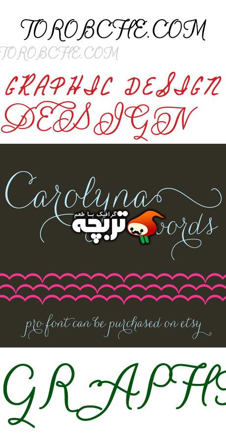 دانلود فونت خوشنویسی انگلیسی Carolyna Font