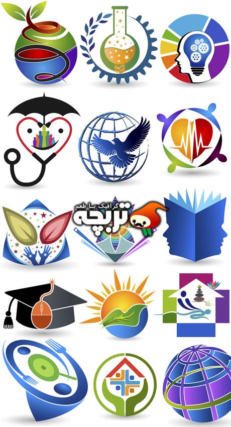 دانلود وکتور المنت های خلاقانه Creative Logo Design Vectors