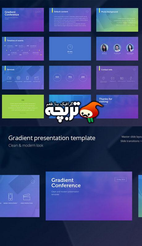 دانلود تمپلیت آماده پاور پوینت Gradient Presentation PowerPoint
