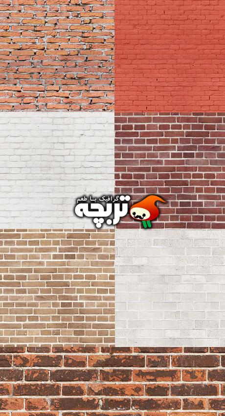 دانلود تکسچر دیوار آجری Seamless Brick Textures