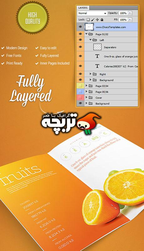 دانلود طرح لایه باز بروشور دو لتی - Brochure Template PSD 1
