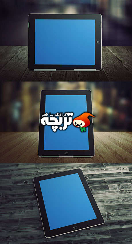 دانلود طرح لایه باز پیش نمایش تبلت - GraphicRiver Tablet Mockups