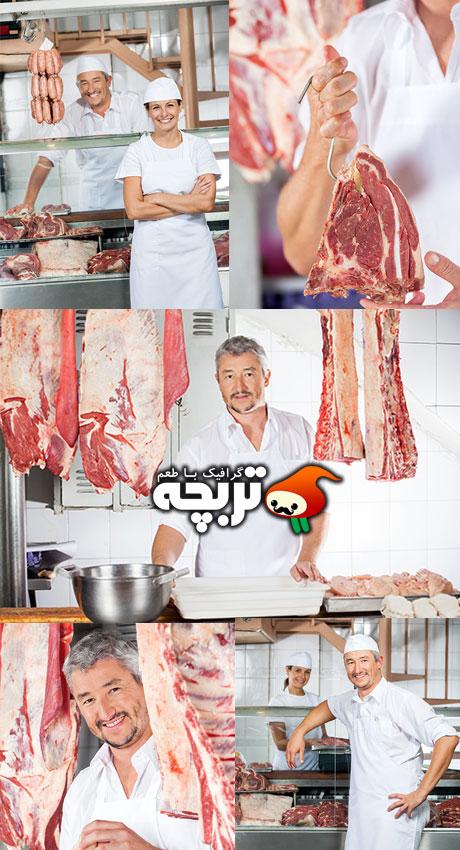 دانلود تصاویر با کیفیت قصاب و گوشت - MeatMan Stock Images