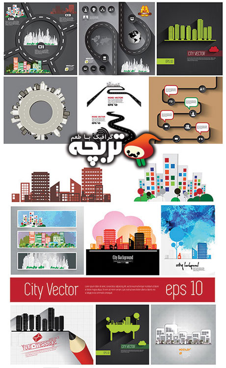 وکتور شهر City Skyline Vector