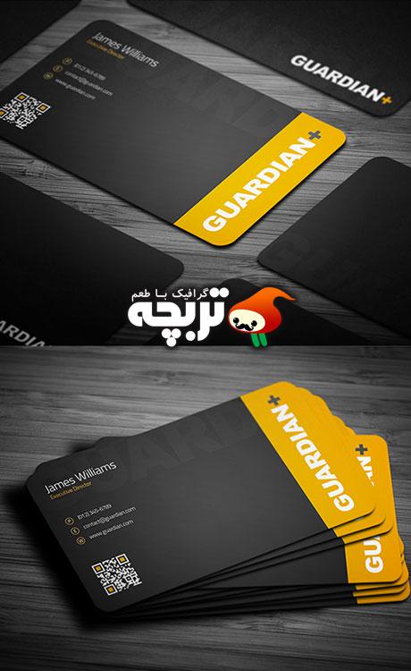 طرح لایه باز کارت ویزیت Safety Business Card