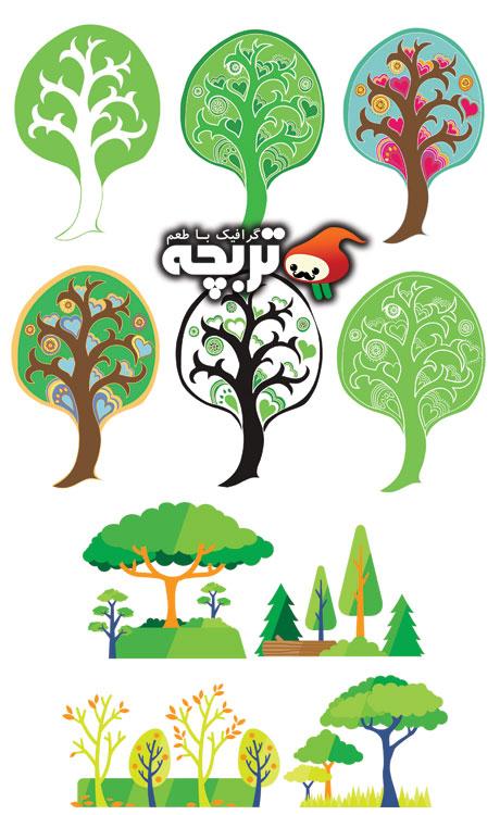 وکتور درخت Tree Vector