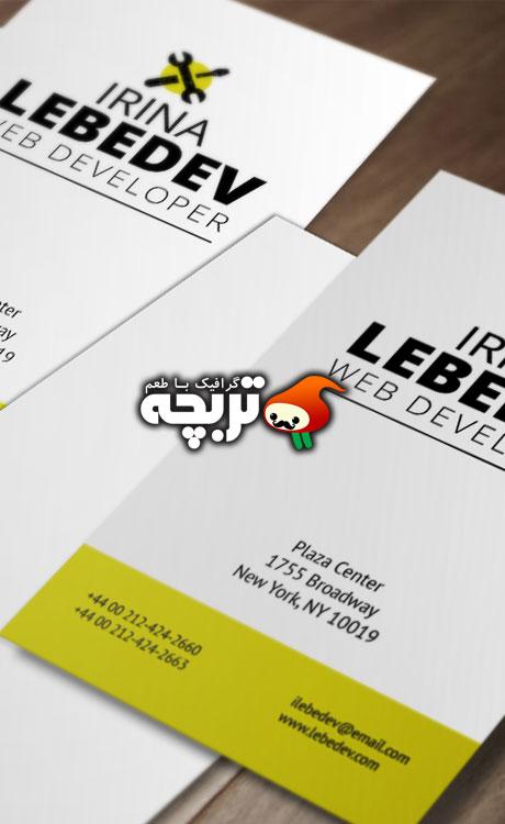 طرح لایه باز کارت ویزیت Business Card Psd