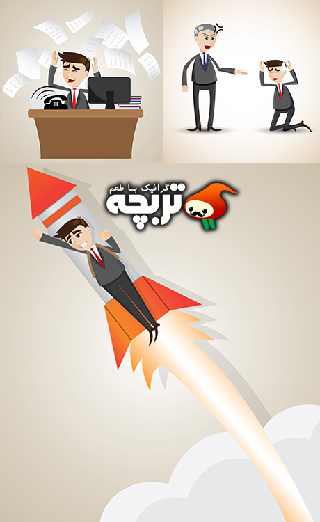 وکتورهای مفهومی کسب و کارCreative And Conceptual Illustration of Businessmen
