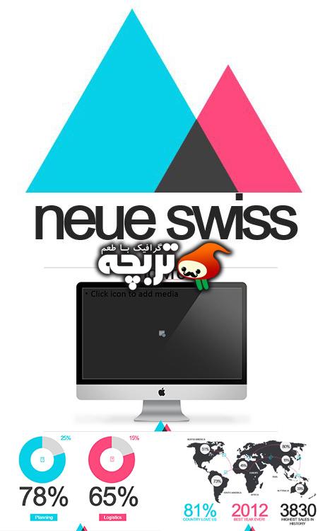 تمپلیت های آماده پاورپوینت  NeueSwissPowerpoint Presentation