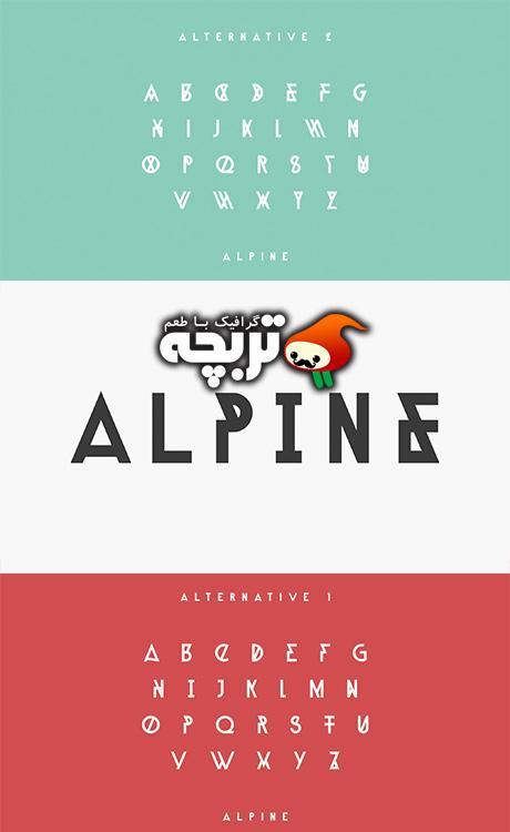فونت انگلیسی  Alpine
