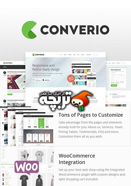 دانلود قالب وردپرس شرکتی - Converio Responsive Multipurpose v1.0.10