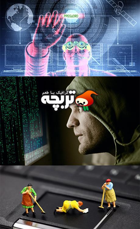 تصاویر با کیفیت لپ تاپ و هکر Hacker and laptop