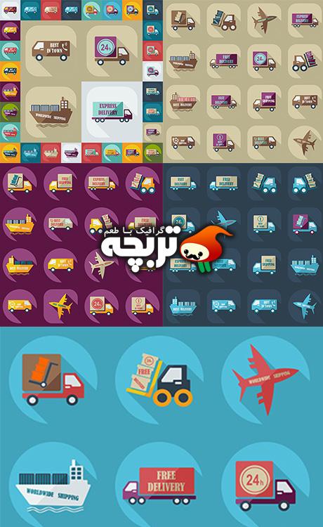 مجمع آیکن حمل و نقل Assembly Icons Of Transport