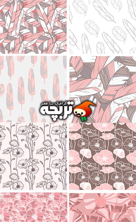 دانلود وکتورهای کاغذ دیواری پر پرندگان – Bird wallpaper Vector