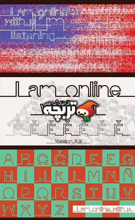 دانلود فونت انگلیسی و جذاب I am Online With U