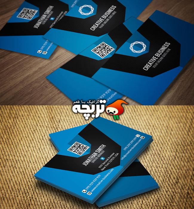 دانلود طرح لایه باز کارت ویزیت شرکتی خلاقانه