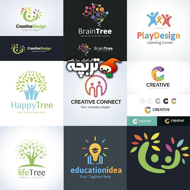 دانلود مجموعه وکتورهای لوگو و نمادهای خلاقانه Creative Logo Vector