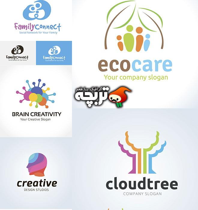 دانلود وکتورهای لوگو و نمادهای خلاقانه سری دوم