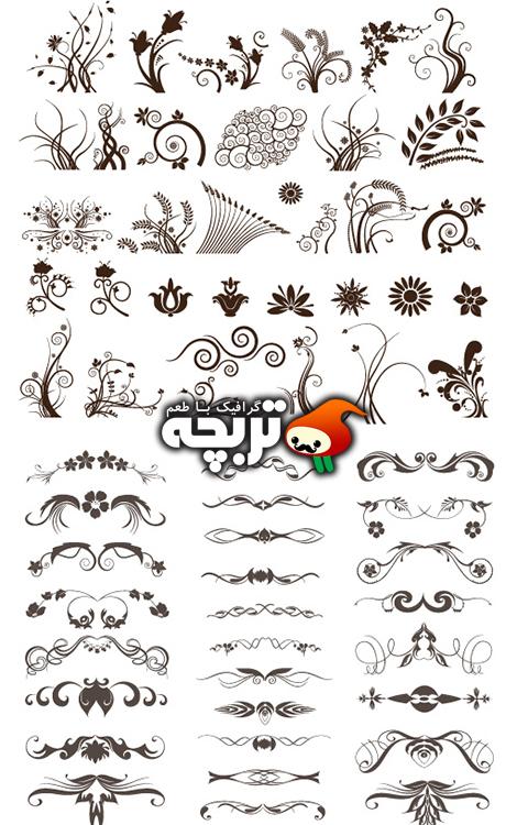 دانلود وکتور المنت های گل – Floral Elements For Design